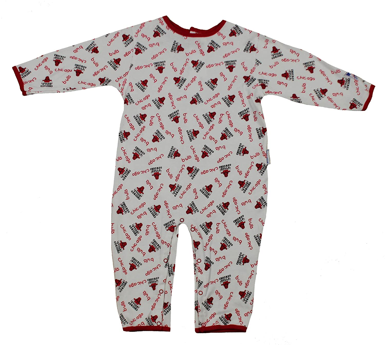 Amazon.com   Mighty Mac Chicago Bulls NBA Baby Boys Infants All-Over Print  Pajamas Coveralls fcd085268ff0