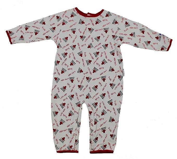 Mighty Mac Chicago Bulls NBA niños Pijama Mono Onesie Traje, Color Blanco y Rojo