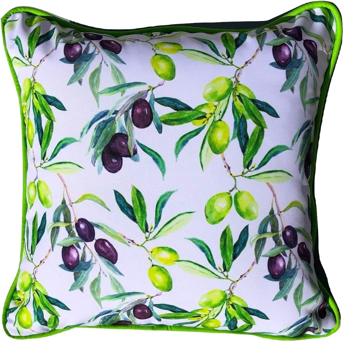 Sea By Day Solana Beach Outdoor Pillows or Decorative Throw Pillows for Couch- Accent Pillows for Patio Furniture Cushions 20×20 Olive The Above