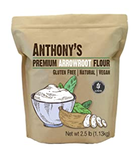 Anthony's Arrowroot Flour, 2.5 lb, Batch Tested Gluten Free, Non GMO