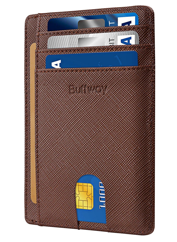 Slim Minimalist Leather Wallets for Men & Women - Cross Coffee