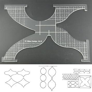 3 mm de acrílico de punto de sueño Patchwork Quilting rueda círculo Swag templatetemplate regla para