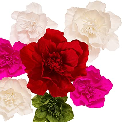 Amazon lings moment large paper flowers 7 x classic lings moment large paper flowers 7 x classic handcrafted crepe paper flower paper flower mightylinksfo