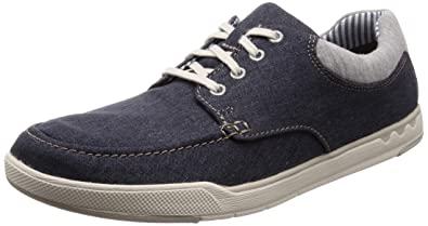 789ab121 Clarks Men's Step Isle Lace Navy Canvas Sneakers-10 UK/India (44.5 EU