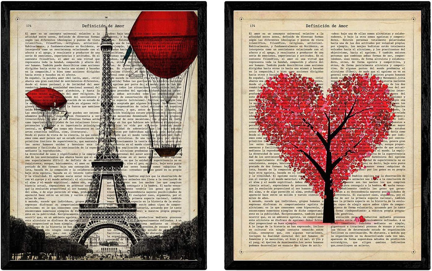 Pack de láminas para enmarcar París Je TAime. Posters Estilo romantico. Decoración de hogar. Láminas para enmarcar. Papel 250 Gramos: Amazon.es: Juguetes y juegos