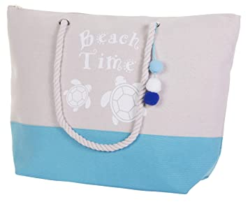 6b79ff506 Amazon.com | Canvas Beach Bags - Women Top Zipper Closure Rope Handles  Water Resistance Tote | Travel Totes