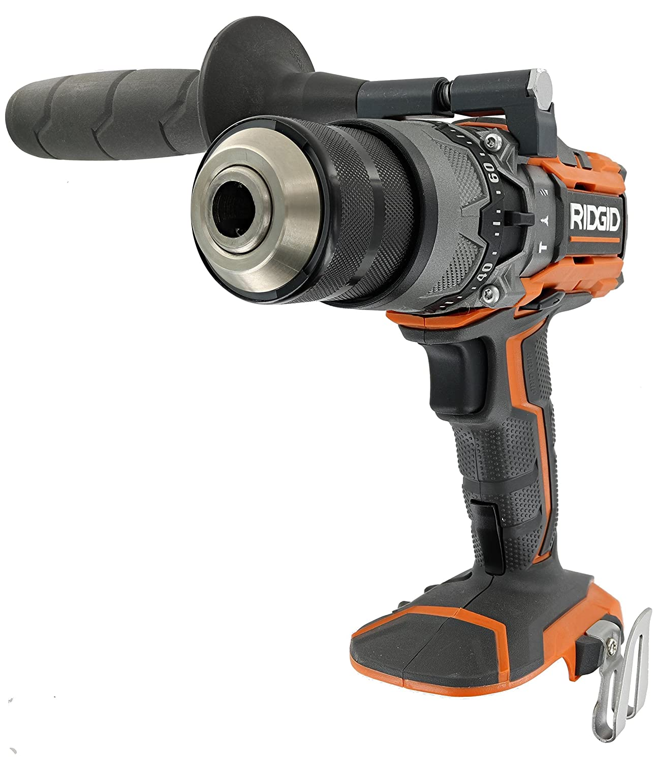 Ridgid R8611503 Gen5X 18V Lithium Ion Cordless 1 2 Inch 780 Inch Pound Hammer Drill with LED Lighting and Textured Handle Battery Not Included, Tool Only Renewed