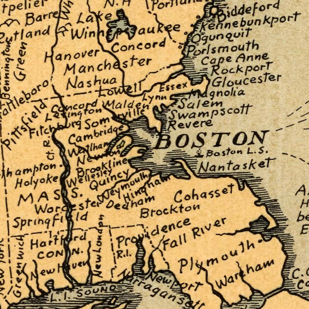 Amazon.com: MAP of a Bostonian\'s idea of the United States of ...