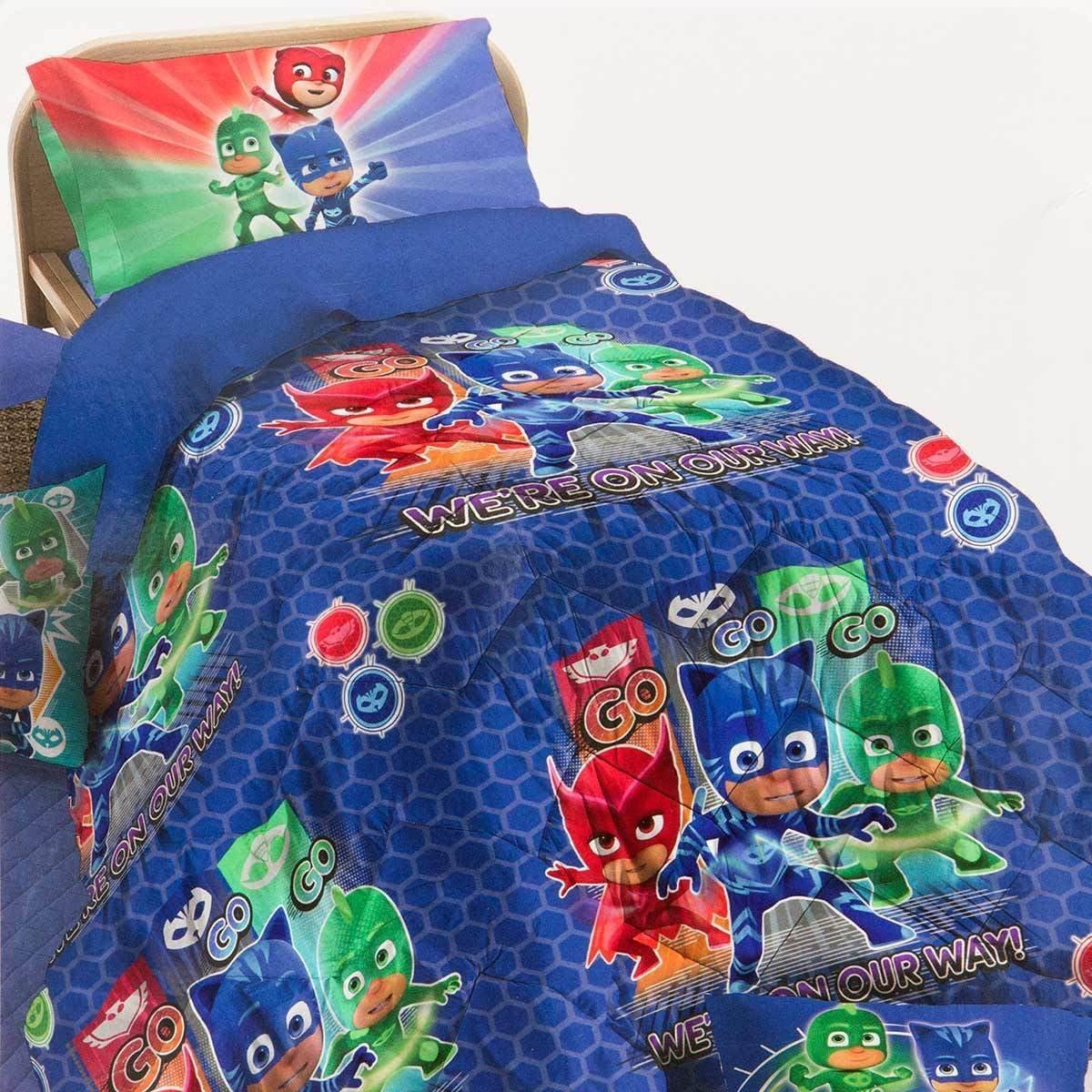Colcha Invierno Super pigiamini PJ MASKS para cama individual ...