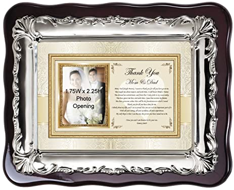 Amazon.com - Thank You Parents Wedding Gift Personalized Picture ...