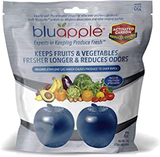product image for Bluapple Produce Freshness Saver Balls With Carbon - Extend Life Of Fruits And Vegetables by Absorbing Ethylene Gas - Keeps Produce Fresher Longer And Also Absorbs Odors From The Refrigerato