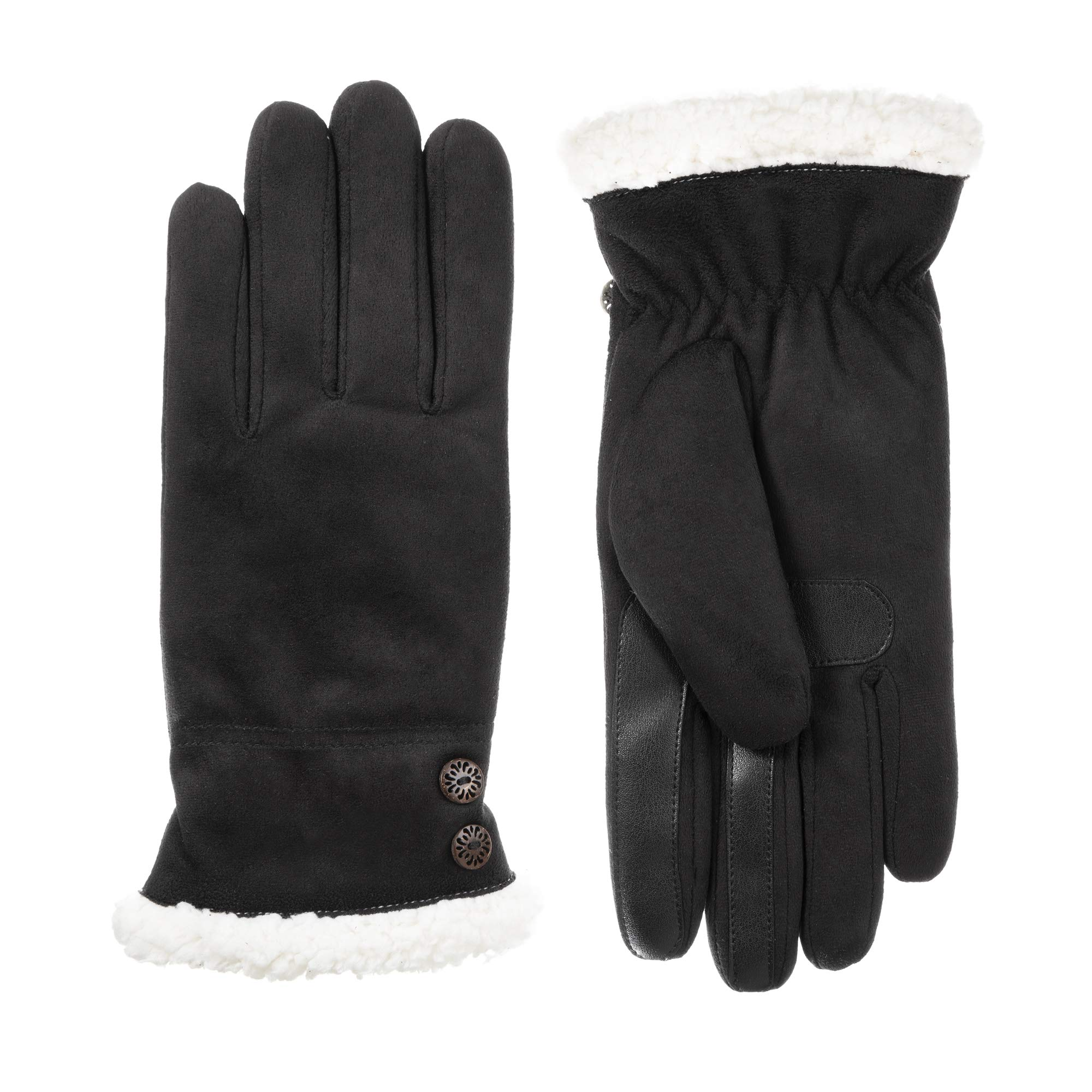 isotoner Microfiber Women's Gloves, Touchscreen Technology, Water Repellent, Black, L/XL by ISOTONER