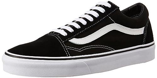 03143de1d8a7 Vans Unisex Old Skool Black and White Sneakers - 11 UK India (46 EU ...