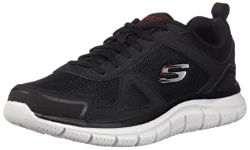 3761661075c56 Skechers Men's Track Scloric Oxford, Black/red, 7.5 2E US