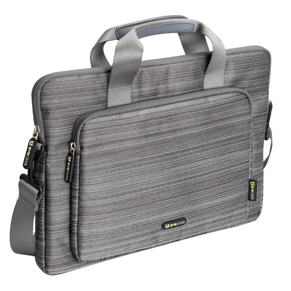 11~11.6 inch Laptop Case, Evecase Suit Fabric Neoprene Messenger Tote Bag for Apple Macbook Air, Microsoft New Surface Pro 2017, Surface Pro 4/3/2/1 Samsung Chromebook 3 XE500C13 11.6 - Gray 885157767033