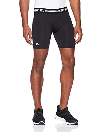 "5b02e8156b273 Starter Men's 6"" Athletic Light-Compression Short, Amazon Exclusive,  ..."