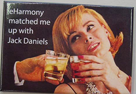 Amazon.com: eharmony Matched Me Up con imán Jack Daniels ...