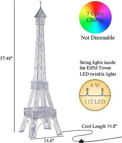 WOXXX Paris Eiffel Tower Floor Lamp