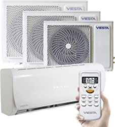 Viesta Klimaanlagen energiesparende Klima Splitgeräte - Timer- und Entfeuchter-Funktion - Angenehm Leise - bis 24000 Btu für Räume bis 85qm - Weiß