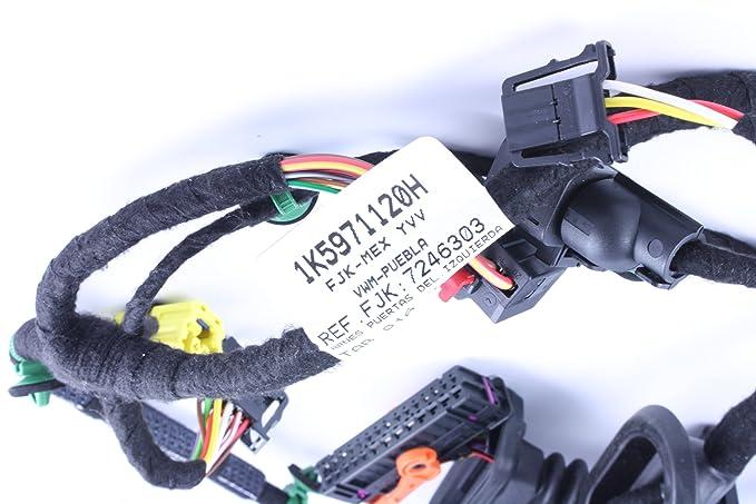 amazon com genuine volkswagen drivers side door harness 1k5 971 120 rh amazon com 2006 jetta driver door wiring harness diagram 2006 vw jetta 2.5 driver door wire harness