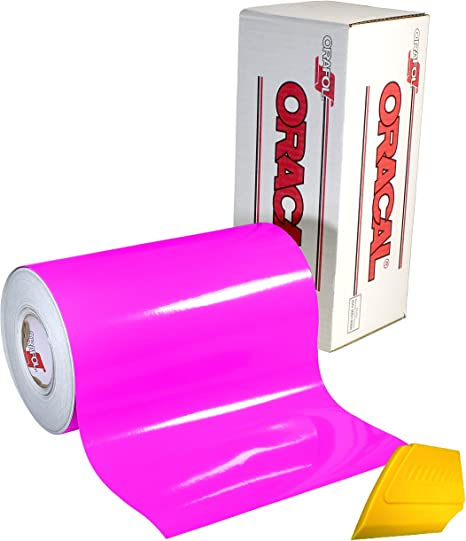 """12/"""" x 10 FT Roll Hot Pink  Glossy Oracal 651 Adhesive  Cutter Plotter Sign 041"""