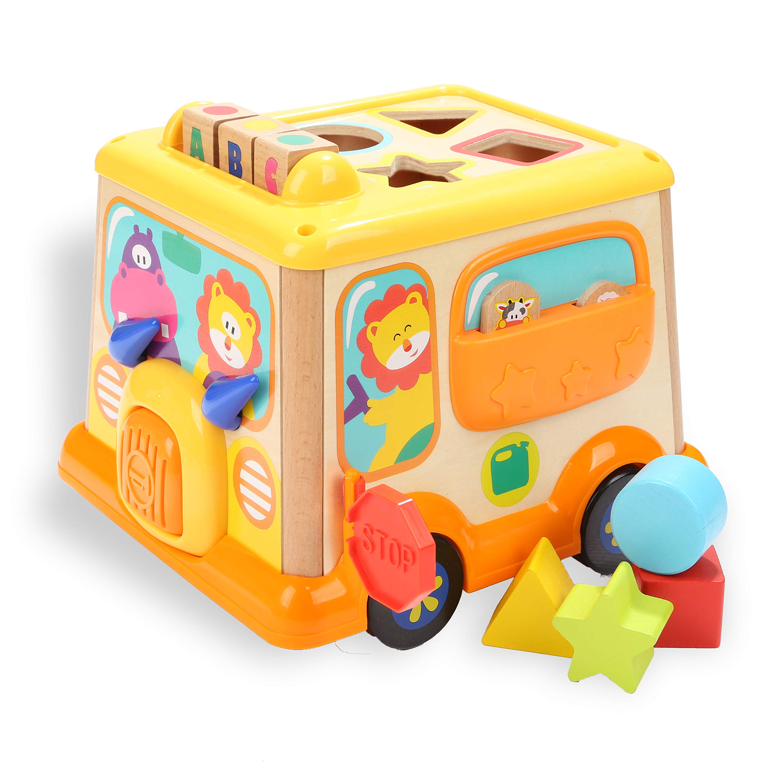 TOP BRIGHT Activity Cube Shape Sorter Baby Educational Game Toys Busy Learner Cube