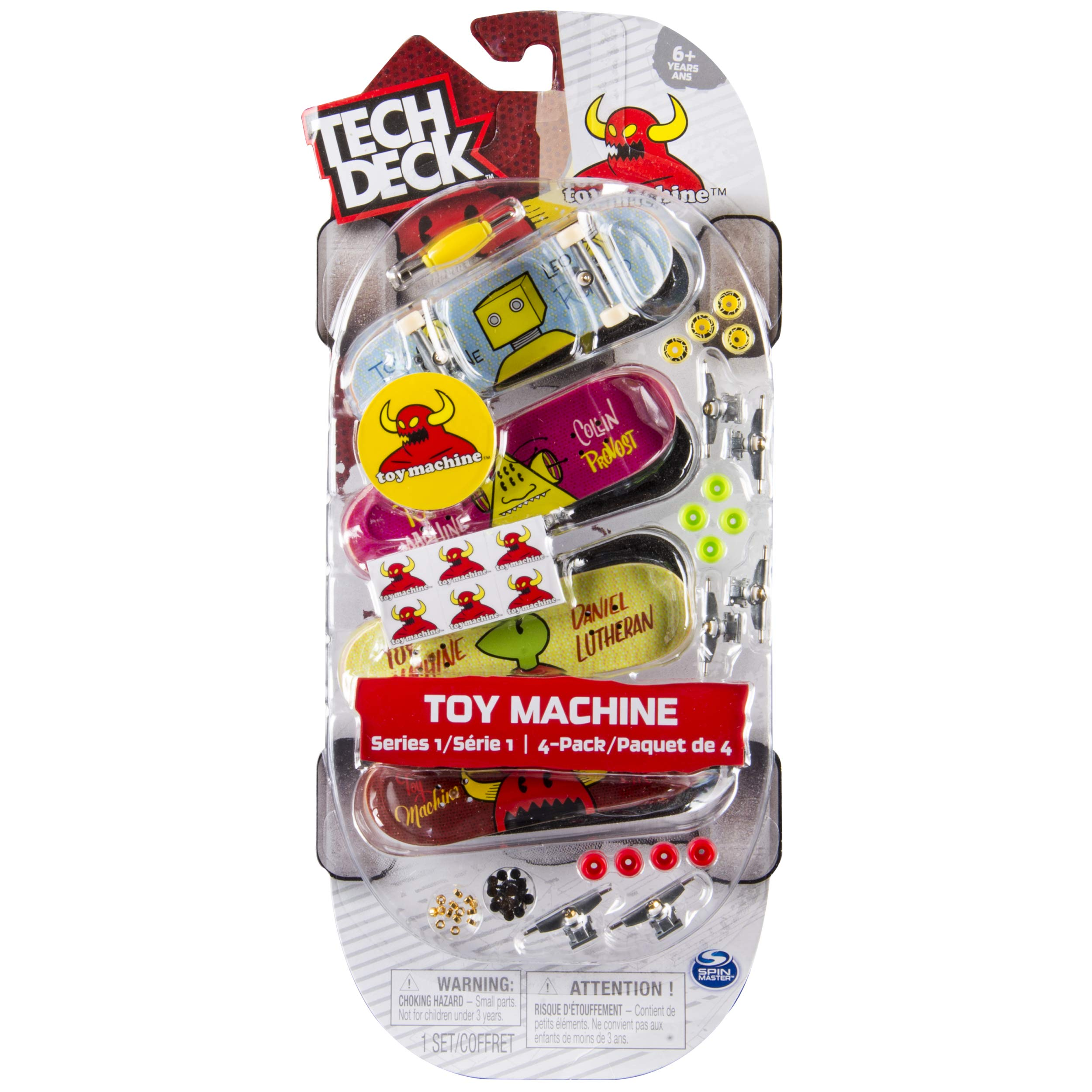 Tech Deck - 96mm Fingerboards - 4-Pack - Toy Machine by TECH DECK (Image #1)