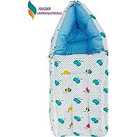 Nagar International Baby's Cotton Sleeping Bag (Blue Cotton)