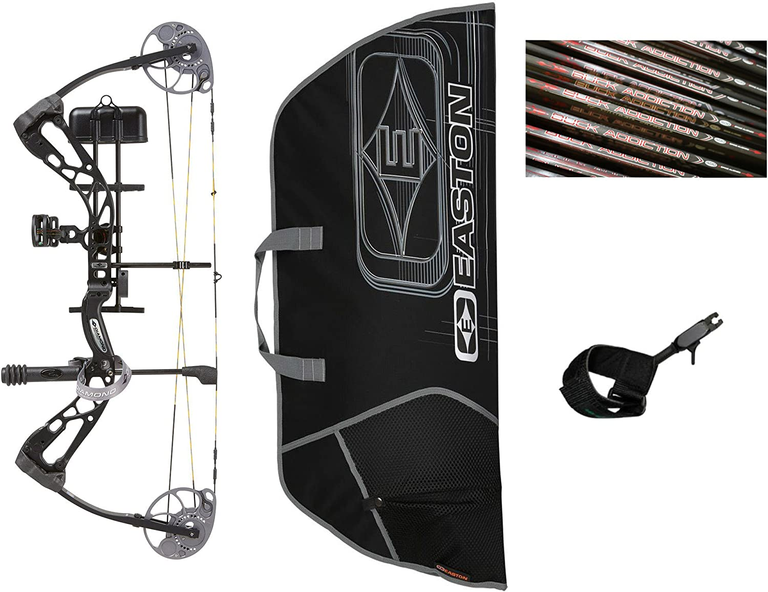 Diamond Edge SB-1, Black, Right Hand, 7-70lbs, Ready to Hunt Package