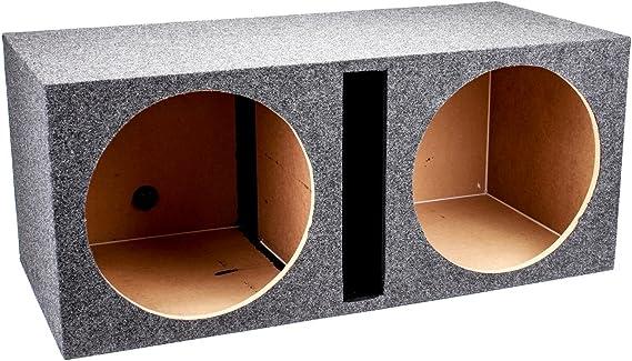 QPower QBASS Dual 15-Inch Vented MDF Subwoofer Sub Box Enclosure