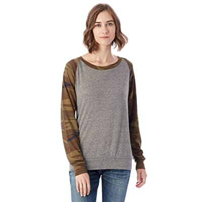 Alternative Women's Printed Slouchy Pullover at Amazon Women's Clothing store