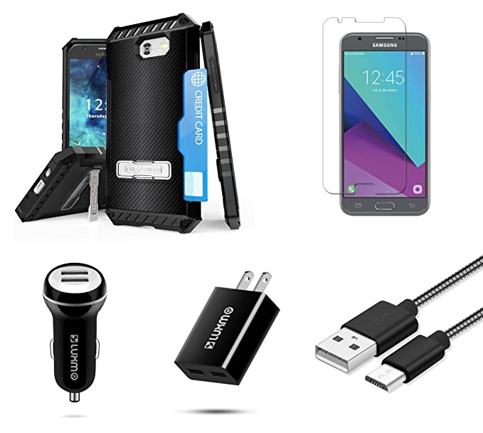 Amazon com: Samsung Galaxy J3 Emerge - Accessory Bundle with