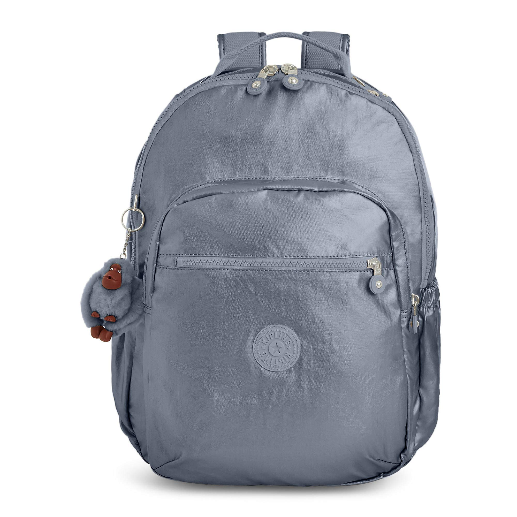 Kipling Seoul Go Large Metallic 15'' Laptop Backpack One Size Steel Grey Metallic