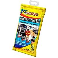 Limpa Tudo Panos Umedecidos Luxcar 30 Unidades