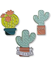 Cactus Enamel Lapel Pins - Individual Pins & Full Set Available