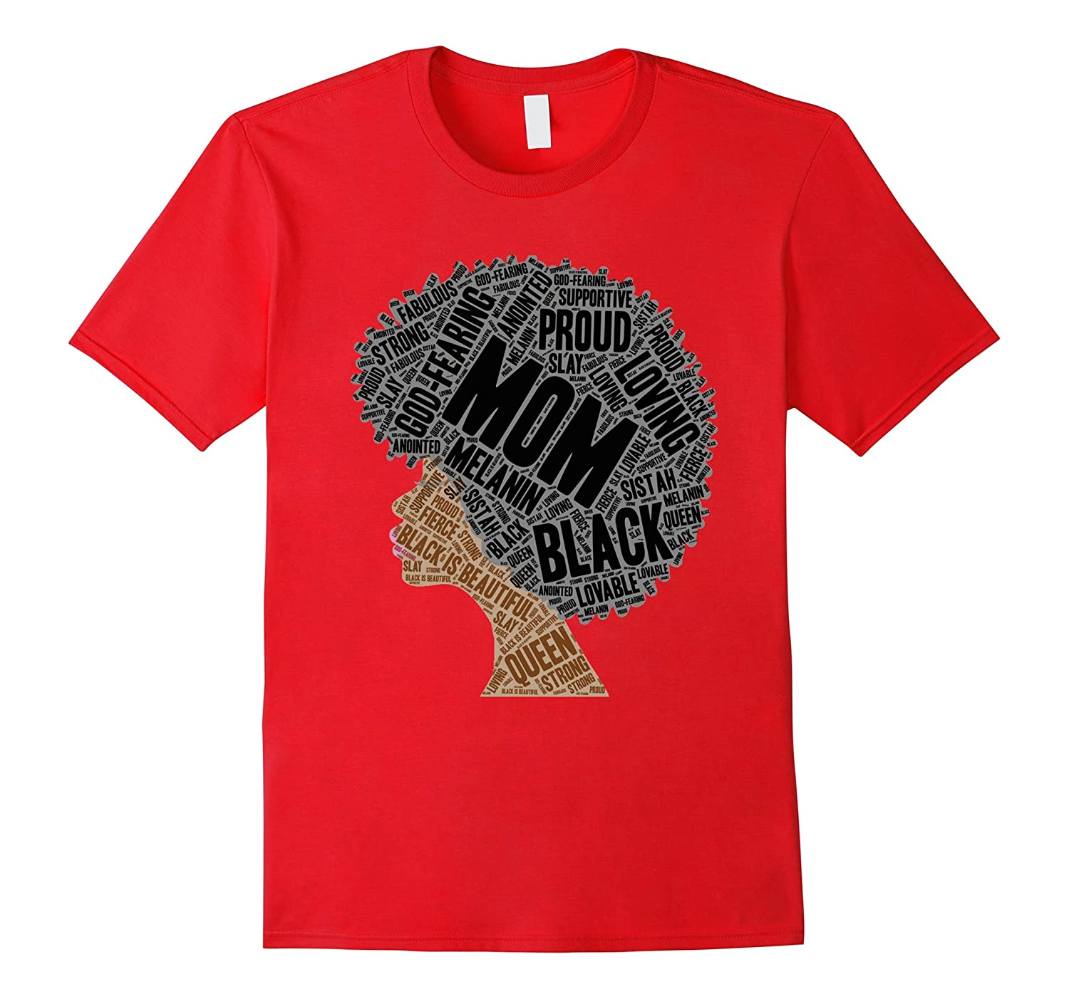 Afro Mom Gift T-Shirt for Black Women  Moms-Vaci