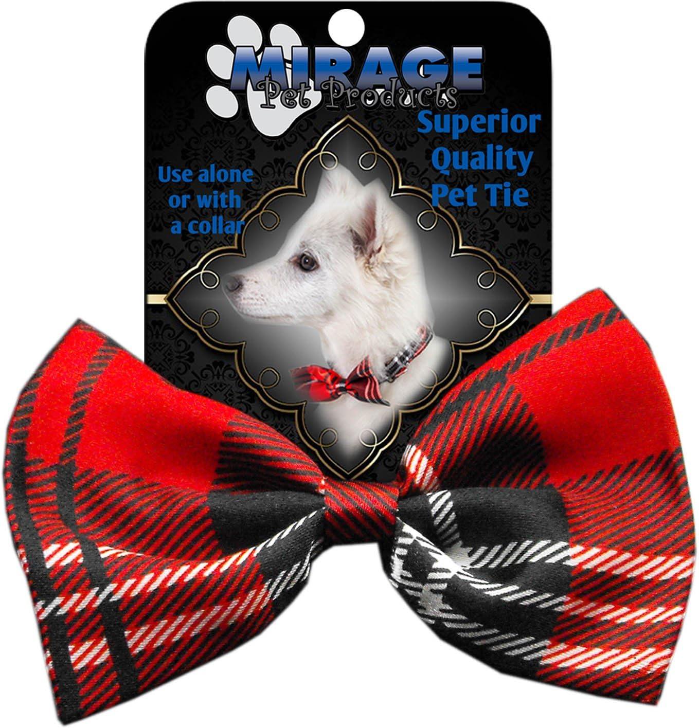 Maroon Geometric Pet Bowtie