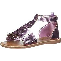 OshKosh B'Gosh Winnie Girl's Metallic Flower T-Strap Sandal