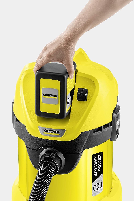 Kächer WD 3 Battery Set Aspirador Multiusos con batería incluida 300W, 17L depósito: Amazon.es: Hogar