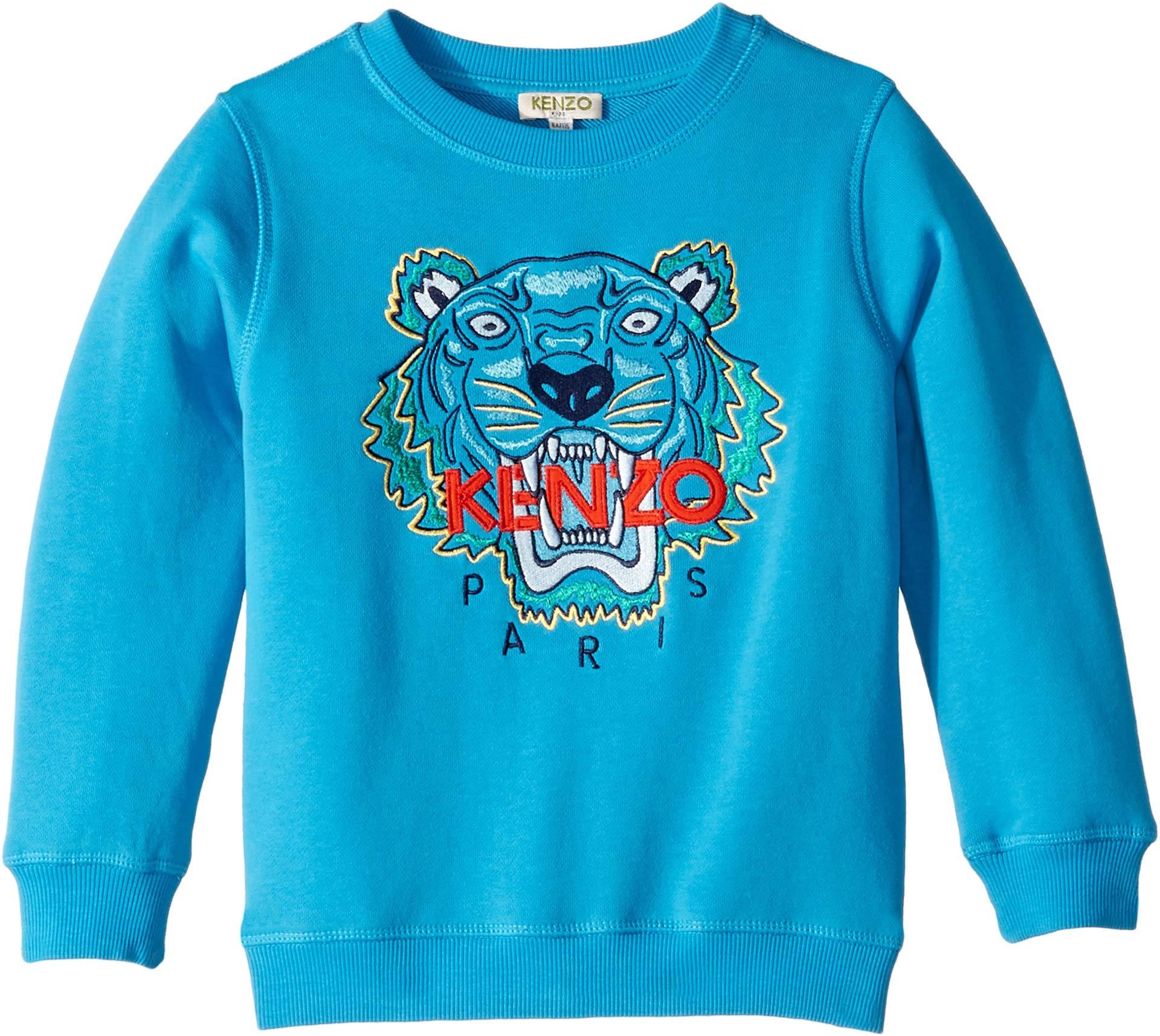 Kenzo Kids Boy's Tiger Sweatshirt (Little Kids) Menthol 6A
