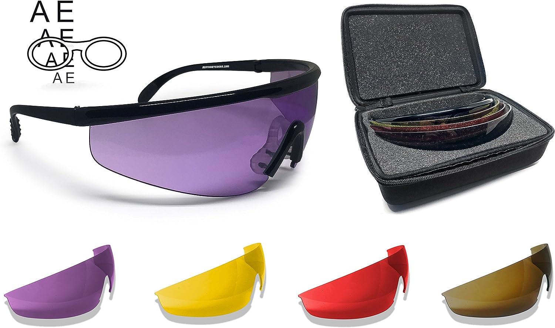 BERTONI Gafas de Tiro Protectoras Balistica Tacticas de Seguridad para Disparar con 4 Lentes Incluidas y Clip para Lentes Graduadas – AF899