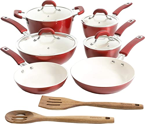 Kenmore Arlington Nonstick Ceramic Coated Forged Aluminum Cookware Set