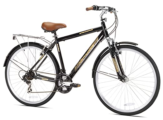 amazon com kent northwoods springdale men s hybrid bicycle black