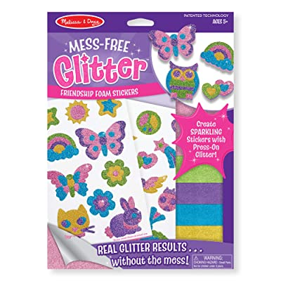 Melissa & Doug Mess-Free Glitter Activity Kit Friendship (22 Stickers, 5 Glitter Sheets, Great Gift for Girls and Boys - Best for 5, 6, 7, 8, 9 Year Olds and Up): Melissa & Doug: Toys & Games