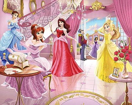 Cendrillon Ariel Raiponce Et Aurore avec Animaux 160 x 115 cm 1art1 Princesses Disney Poster Papier Peint