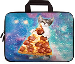 """11"""" 11.6"""" 12"""" 12.1"""" 12.5"""" inch Laptop Carrying Bag Chromebook Case Notebook Ultrabook Bag Tablet Cover Neoprene Fit Samsung Google Acer HP DELL Lenovo Asus (11 11.6 12.1 12.2 inch, Cat & Pizza)"""