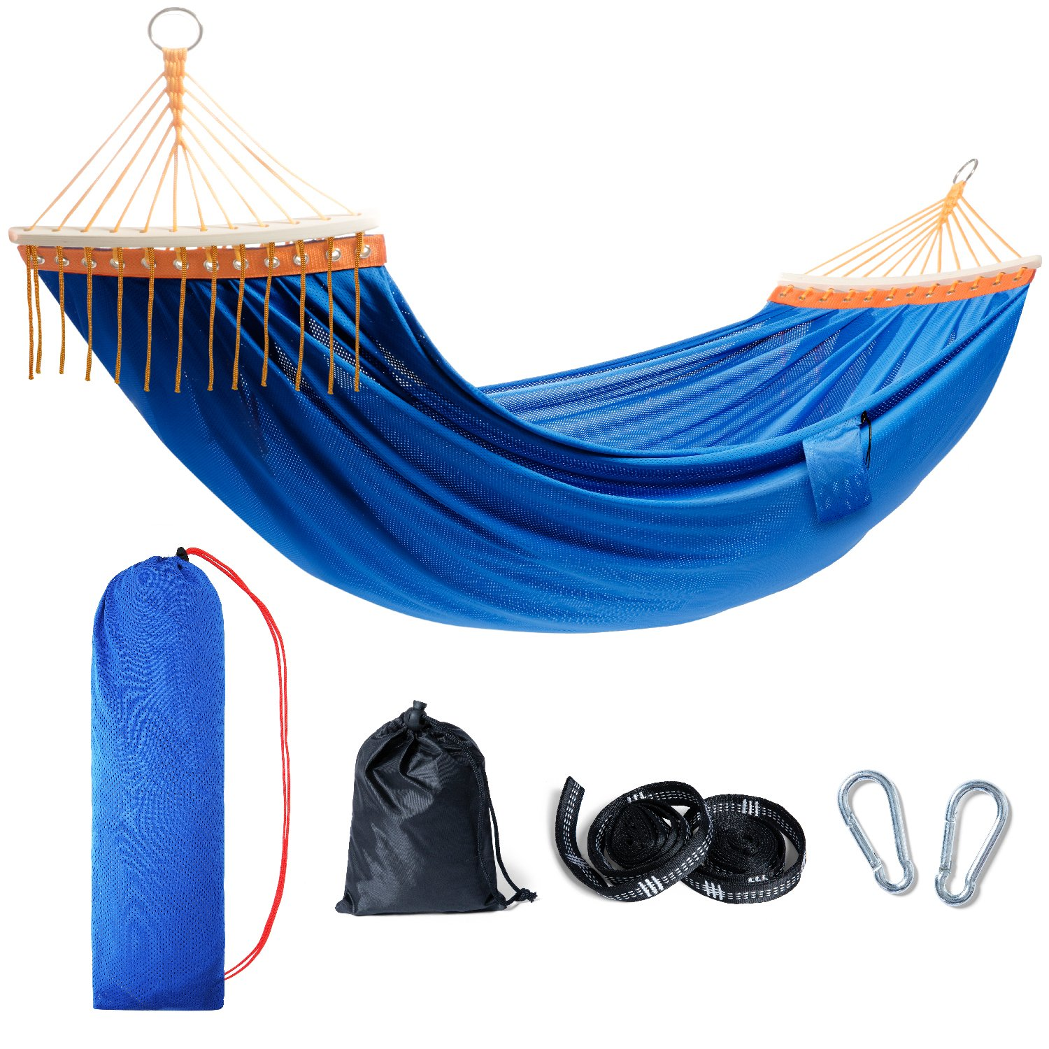 450lbs Capacity TOURIT Lightweight Portable Hammock Double Camping Hammock with Tree Straps for Outdoors Patio Yard Backpacking Travel Camping Beach
