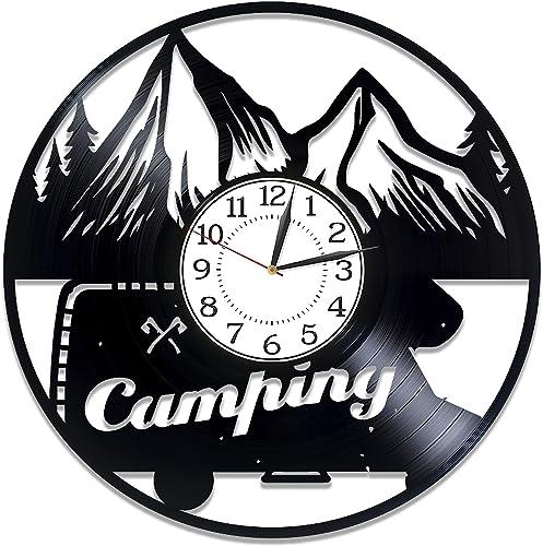 Kovides Camping Vinyl Clock 12 Inch