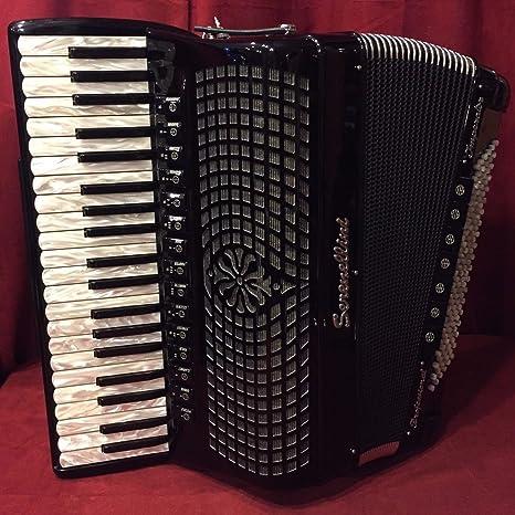 Nueva serenellini Piano acordeón plata cassotto 415 3 + 2 41 ...