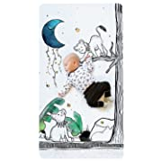100% Cotton Super Soft Crib Sheet - Hypoallergenic and Breathable - Original Design by JumpOff Jo - to The Moon Series - Lionhearted